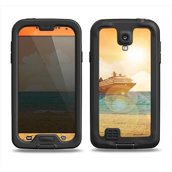 The Vintage Cruise ship at Dusk Samsung Galaxy S4 LifeProof Fre Case Skin Set