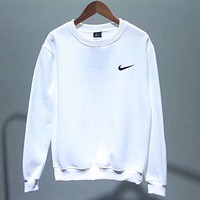 ''NIKE'' Fashion Casual Long Sleeve Sport Top Sweater Pullover Sweatshirt F  White
