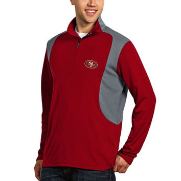 San Francisco 49ers Antigua Delta Quarter Zip Pullover Jacket - Scarlet
