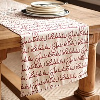FA LA LA TABLE RUNNER