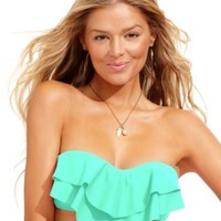 Hula Honey Tiered Flounce Bikini Top | macys.com