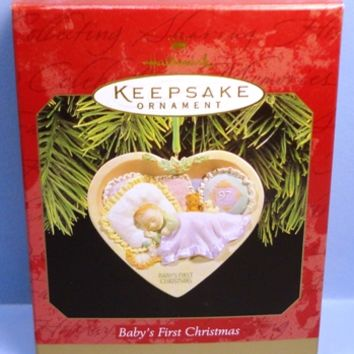 1997 Babys First Christmas Hallmark Retired Ornament