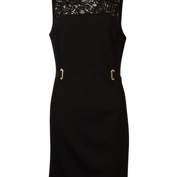 French Connection Women's Illusion Lace Belted Sheath Dress