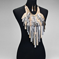 Mckensie Almighty Fringe Gold &Silver Drop Necklace