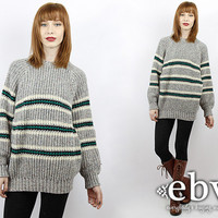Vintage 90s Striped Pullover Sweater Oversized Sweater Oversized Knit Oversized Jumper Striped Sweater Striped Jumper Oversized Jumper