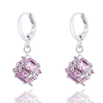 2016 New Brand High-grade Crystal Ball Earrings Long Section Drop Earrings Jewelry for Wedding Gift