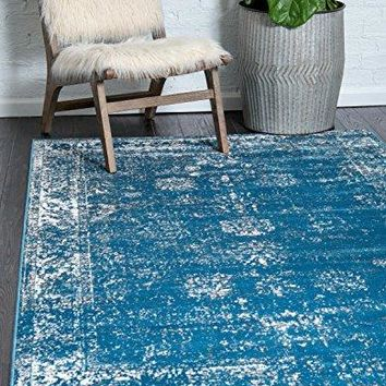 Unique Loom Sofia Collection Traditional Vintage Blue Home Décor Area Rug (4' x 6')