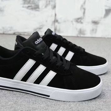 """Adidas Neo"" Unisex Sport Casual Couple Fashion Stripe Anti-fur Plate Shoes Sneakers"