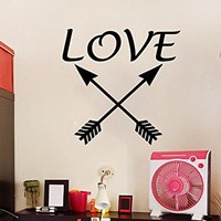 Arrows Love Wall Decal Vinyl Sticker Decals Feather Arrow Bohemian Decor Indie Boho Fashion Art Bedroom Interior C568