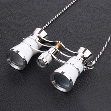 3X25 exquisite opera glasses theater glasses lady gift opera binocular with chain HOG002
