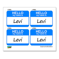 Levi Hello My Name Is - Sheet of 4 Stickers