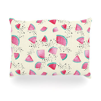 "Danii Pollehn ""Watermelon"" Food Oblong Pillow"
