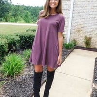 Wine & Chill Pocket Tee Dress