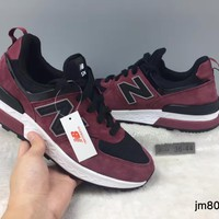 cxon new balance nb574 v2 cushion wine red for women men running sport casual shoes sneakers