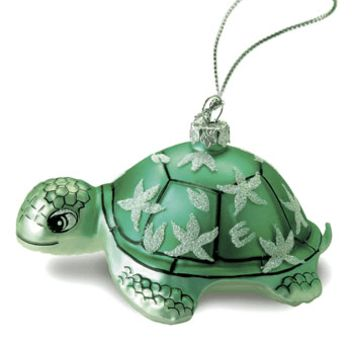 "Hand Painted Glass ""Honu Turtle"" Ornament"