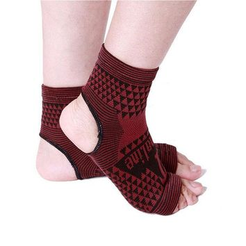 ICIK272 2 pcs Elastic Knitted tourmaline magnetic therapy Ankle Brace Support Band Sports Gym Protects Therapy shoes ankle protector