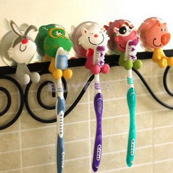 Mini Toothbrush Holder Bathroom Product Sanitary Ware Accessories Lovely Household Animal Type Toothbrush Holde