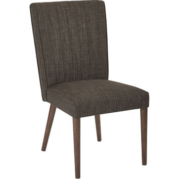 Caroline Dining Chair with Coffee Legs, Milford Taupe Fabric