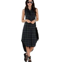 Green I-don't-care Flannel Tunic