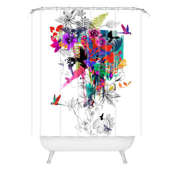 Holly Sharpe Tropical Girl 1 Shower Curtain