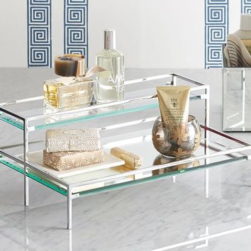 TIERED MIRROR TRAY