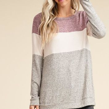 Open Mind Top - Taupe