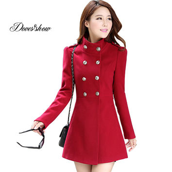 Double Breasted  Women'S Cashmere Coat