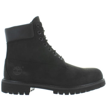 "Timberland Earthkeepers Premium Icon 6"" - Waterproof Black Nubuck Classic Work Boot"