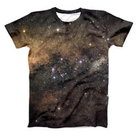 The Gold Aura Space ink-Fuzed Unisex All Over Full-Printed Fitted Tee Shirt