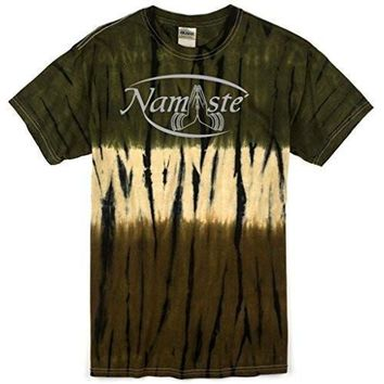 Yoga Clothing for You Mens Camo Namaste Tie Dye Tee Shirt