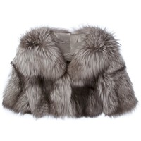 Liska Cropped Fox Fur Jacket - Liska - Farfetch.com