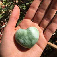 Tree Agate Crystal Heart