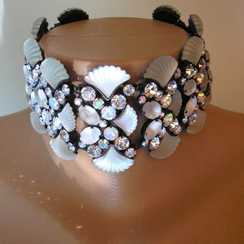 Vintage Butler and Wilson Jewelry, Runway Choker, Butler and Wilson Necklace, Bridal Statement Choker, Butler and Wilson Statement Necklace