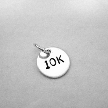 10K Sterling Silver ROUND 7/16 inch CHARM