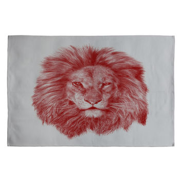 Eric Fan Red Leo Woven Rug