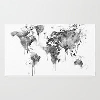World Map Rug by MonnPrint