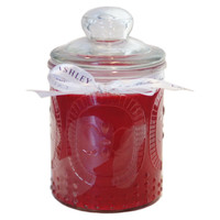 15.5 oz Laura Ashley Candle, Raspberry, Filled Candles