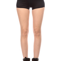 Black Spandex Workout Shorts