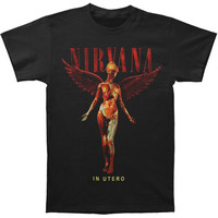Nirvana Men's  In Utero T-shirt Black