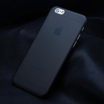 Matte Transparent Ultra-thin Black iPhone Case