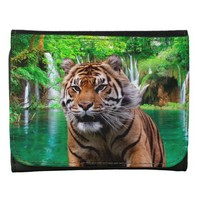 Sumatran Tiger Small Faux Leather Wallet