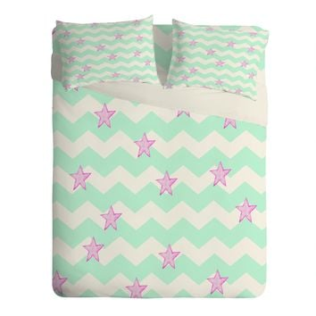 Monika Strigel Sweet Stars And Mint Candy Sheet Set Lightweight