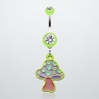 Mushroom Belly Button Ring
