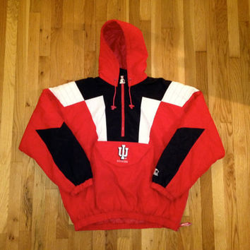 vintage indiana hoosiers starter jacket size XL