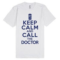 Keep Calm And Call The Doctor - Doctor Who Shirt-White T-Shirt