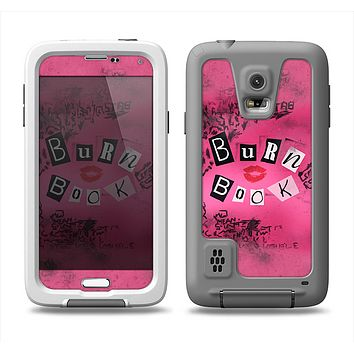 The Burn Book Pink Samsung Galaxy S5 LifeProof Fre Case Skin Set