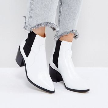 ASOS REWIND Leather Chelsea Boots at asos.com