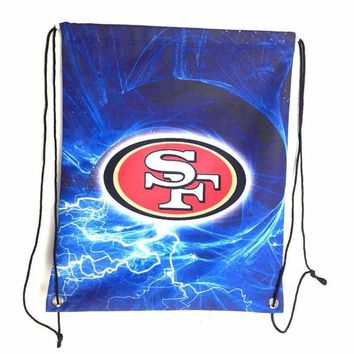 San Francisco 49ers Drawstring Bags Men Backpack Digital Printing Pouch Customize Bags 35*45cm Sports Fan Flag