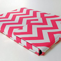 Macbook pro case, Macbook 13 inch laptop sleeve, Padded Macbook Cover - Pink Chevron - Laptop case, Laptop Cover, Laptop Sleeve