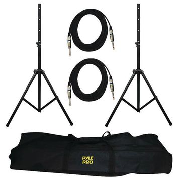 Pyle Pro(R) PMDK102 Heavy-Duty Pro Audio Speaker Stand & 1-4'' Cable Kit